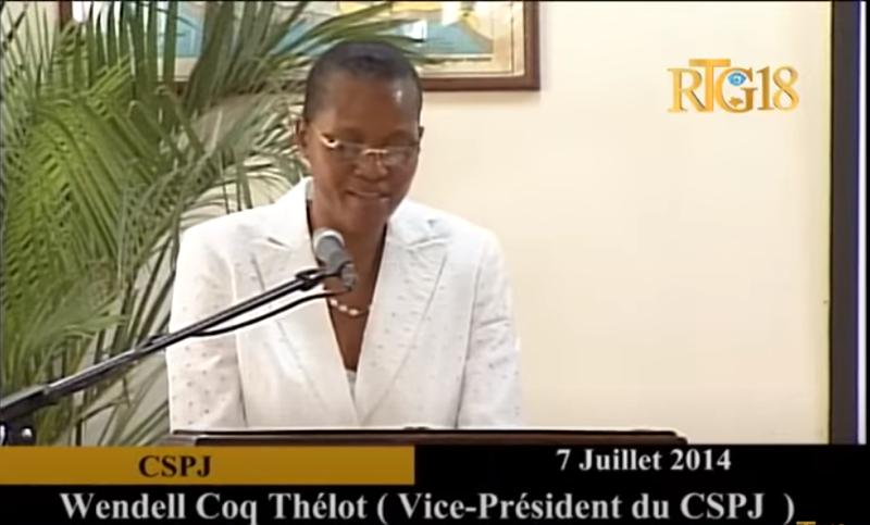 海地警方指控前最高法院法官寇克-惕茹(見圖)與總統摩依士的命案有關。(擷取自Youtube影片)