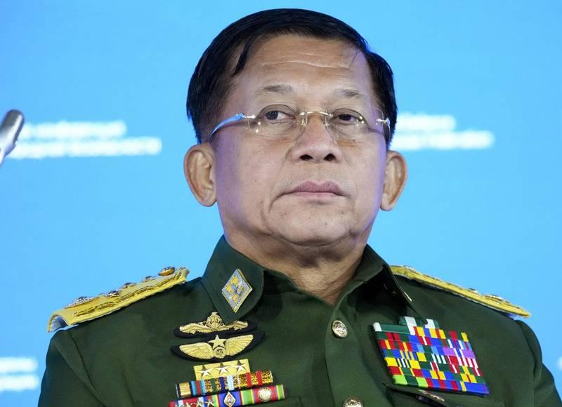 緬甸軍政府領導人敏昂萊(見圖)今日宣布,將在2年內舉行新的多黨派選舉。(美聯社)