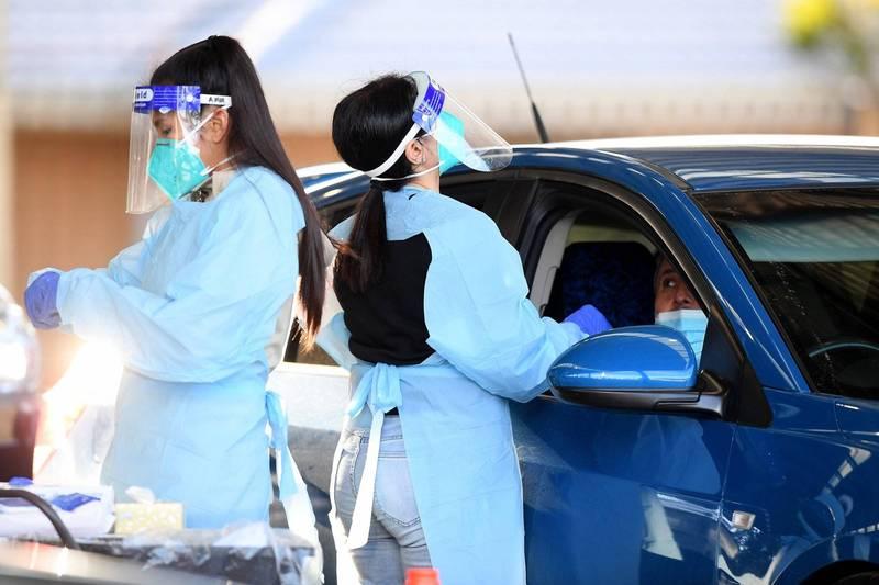 澳洲新南威爾斯州繼7月29日之後,今(8月1日)再度新增239人確診Delta變種武肺。新州雪梨篩檢示意圖。(歐新社)