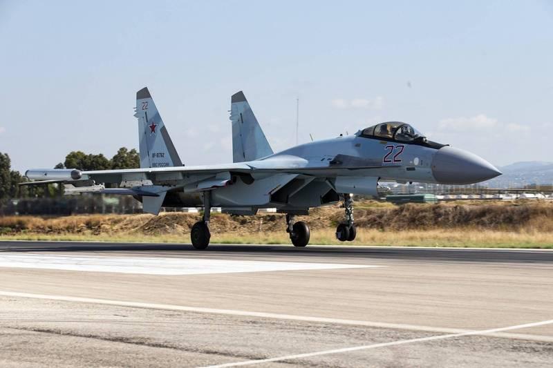 俄羅斯軍方一架Su-35發生墜機意外。(美聯社)