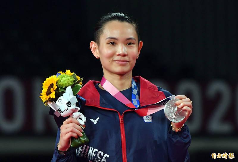 戴資穎在東京奧運羽球女子單打獲得銀牌。(特派記者林正堃攝)