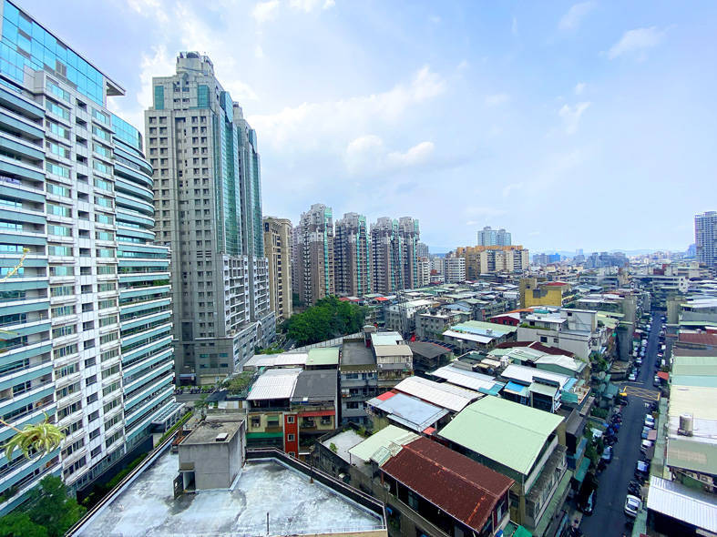 Buildings in Taipei are pictured on Wednesday last week. Photo: CNA