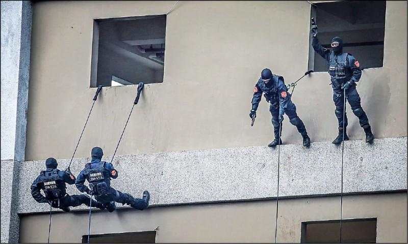 警政署反恐訓練中心啟用三年半來,有關反恐聯合演習加上訓練僅執行十一場次,使用率偏低。(取自警政署臉書)