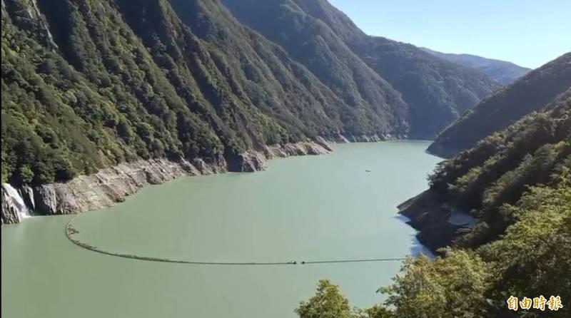 德基水庫水位再進帳179萬噸。(記者歐素美攝)
