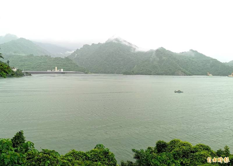 上游降雨豐沛,曾文水庫蓄水率已破85%。(記者吳俊鋒攝)