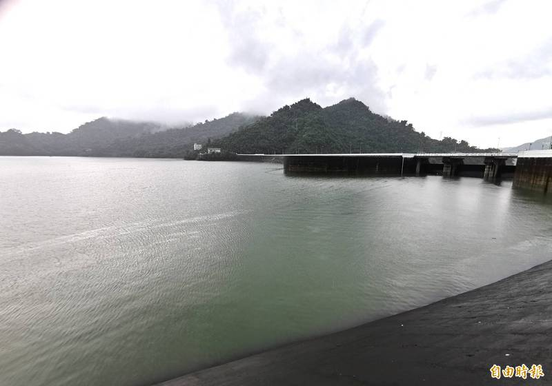 曾文水庫上游降雨豐沛,3天灌進1座日月潭的有效蓄水量。(記者吳俊鋒攝)