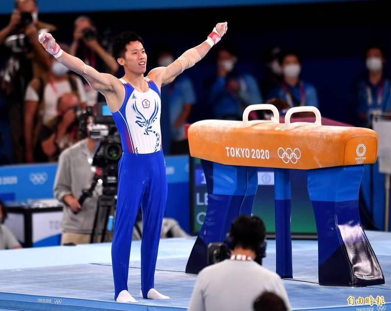 李智凱在東京奧運男子鞍馬項目奪得銀牌。(資料照,特派記者林正堃攝)