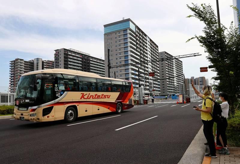 東京奧運開幕後,根據東京警方統計,東京一週內至少發生了50起涉及奧運人員、載運運動員巴士的車禍。示意圖。(路透)