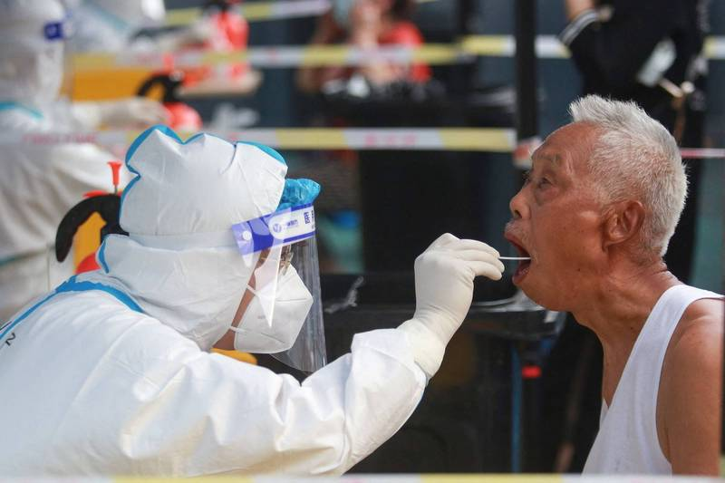 揚州病例攀升速度也相當快,當局表示揚州疫情發生早、發現較晚,疫情恐尚未見底。(法新社)