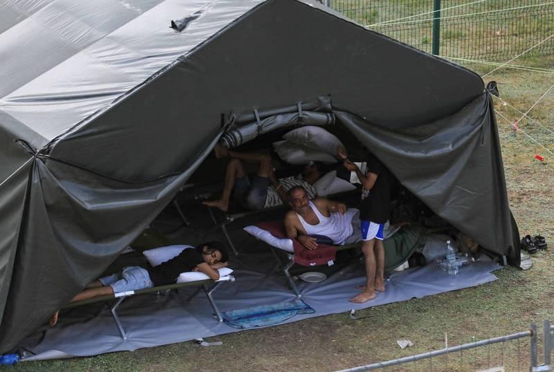 僅昨日(7月31日)就有287人從白俄羅斯非法進入歐盟領土。(法新社)