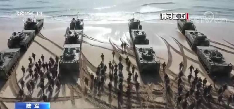 中國官媒聲稱,73集團軍曾進行多次奪島登陸演練,並配合釋出影片。(影片截圖)