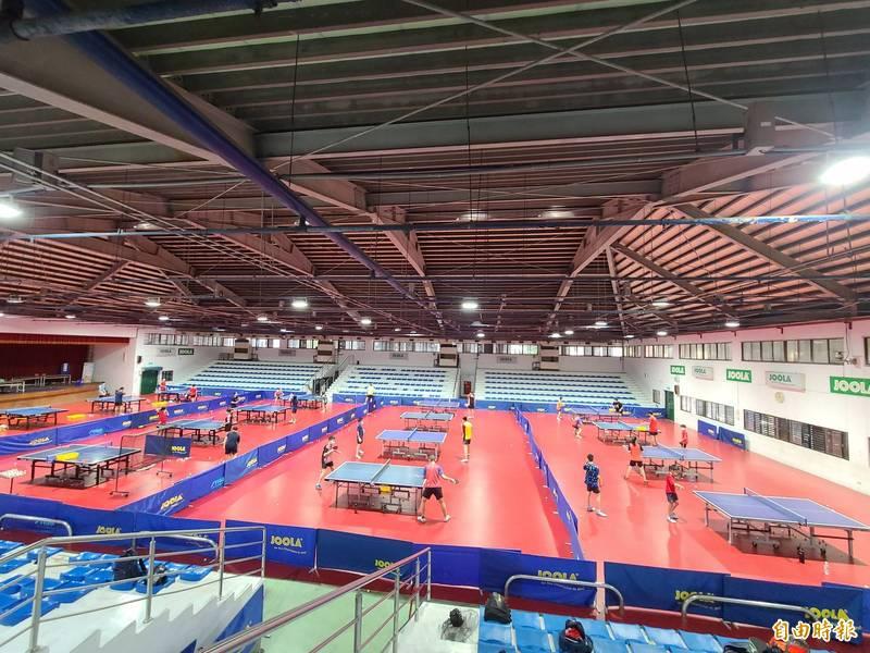 台南市桌球館整建經費約1500萬元已獲中央核定補助,目前正辦理規劃設計的招標中,預計2023年完工。(記者劉婉君攝)