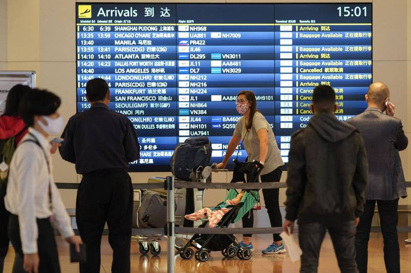 為了應對Delta變種病毒,日本對多國旅客祭出邊境管制強化措施。圖為羽田機場。(歐新社)