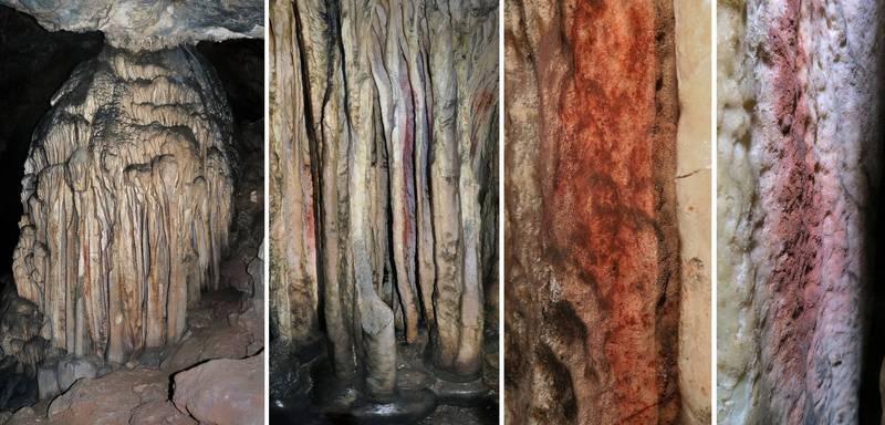 尼安德塔人在西班牙洞穴中留下的「作品」。(法新社)