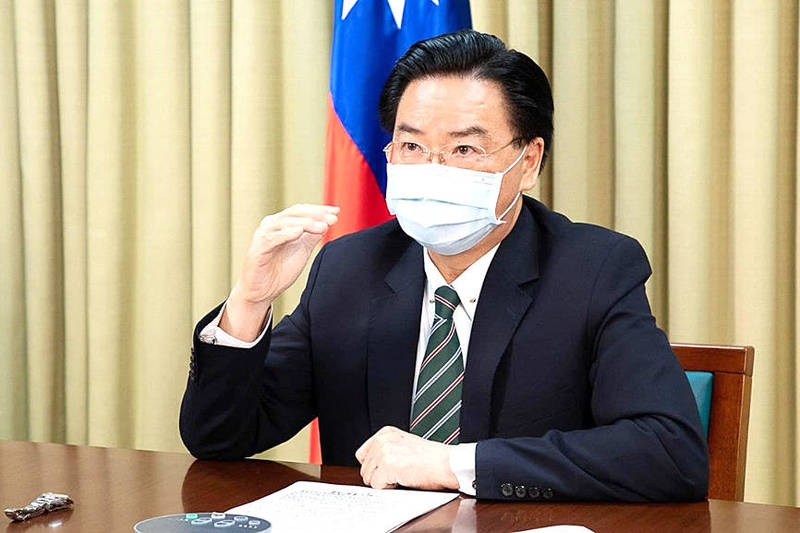 Minister of Foreign Affairs Joseph Wu comments on the Chinese threat in an interview with Portuguese newspaper Publico on July 22. Photo courtesy of the Ministry of Foreign Affairs
