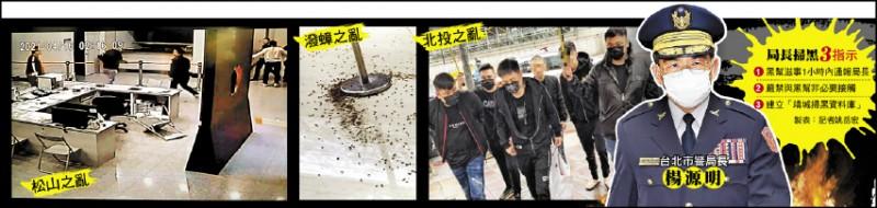 台北市歷經松山、北投、潑蟑3起黑幫之亂,新任市警局長楊源明(見圖)在就職滿月前宣告會以更積極手段掃黑。(資料照)