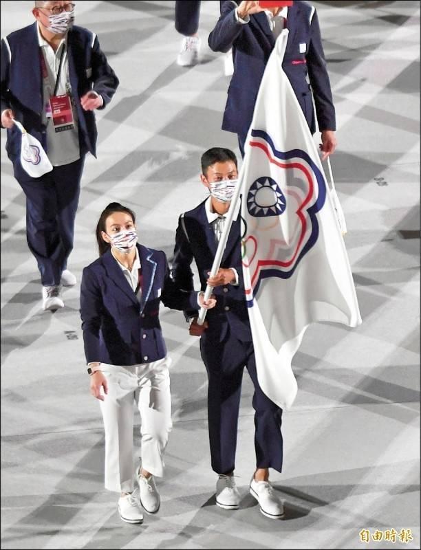 海內外50多個台派團體發起「叫我台灣隊!台灣隊加油!」活動,呼籲國內各界正名「台灣隊」,不要再稱作「中華隊」;圖為東京奧運開幕式。(資料照)