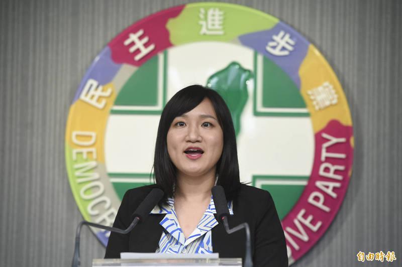 民進黨發言人謝佩芬說,中國社會民族主義高漲,形成寧左勿右的氛圍,出現各種網路霸凌與不理性行為,我們均無法認同。(資料照)