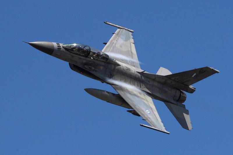 希臘軍方F-16戰機。(歐新社)