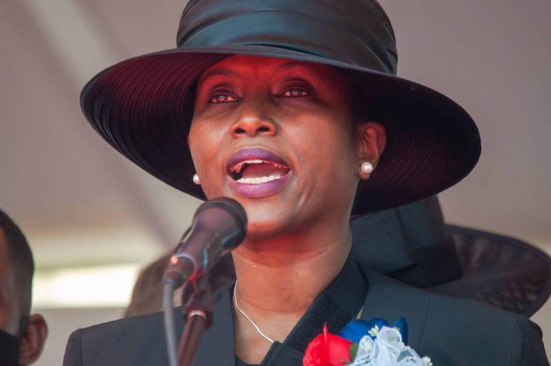 海地總統摩依士的遺孀瑪婷(見圖)鬼門關前走一遭,赴美療傷保住一命。(歐新社)