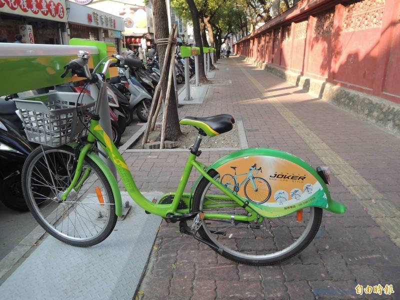 台南T-Bike受疫情衝擊,使用率偏低,南市將推出抽獎活動行銷。(記者洪瑞琴攝)