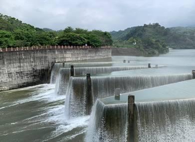 受烟花、盧碧颱風及西南氣流鋒面帶來豐沛雨量,各大水庫的蓄水量進帳滿滿。(台水提供)