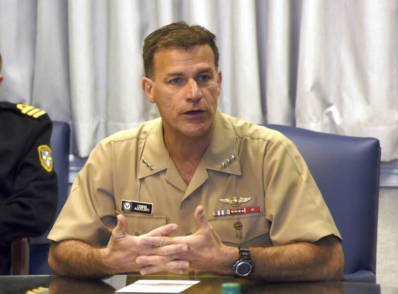 美國印太司令部司令阿基里諾(John Aquilino)4日表示,台灣海峽是國際水域,任何國家都不能視為己有。(美聯社資料照)