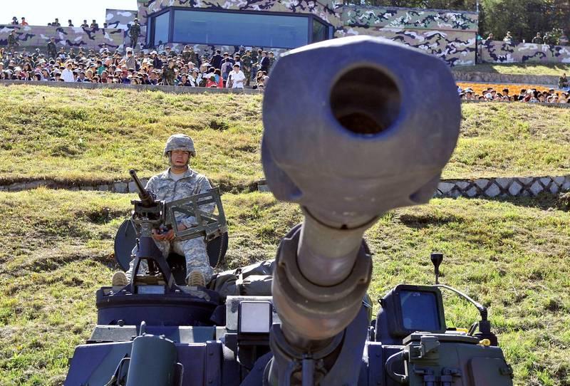 美政府同意出售我國40輛M109A6自走砲。示意圖。(法新社)