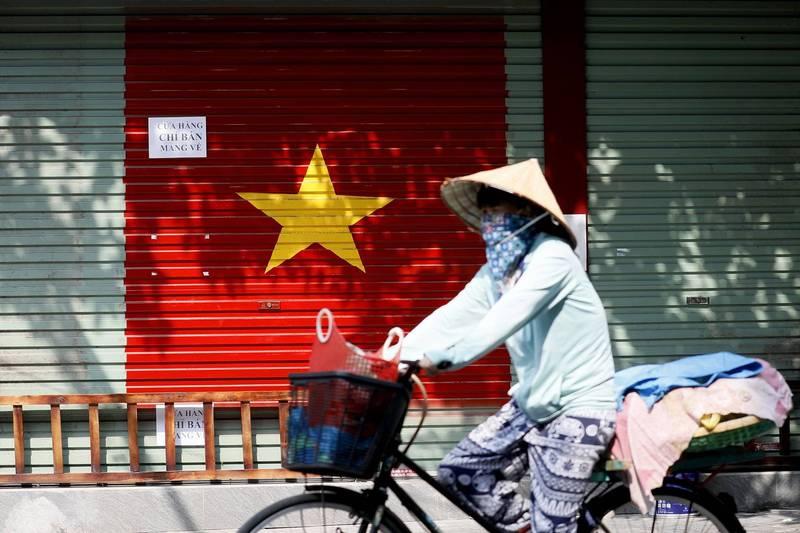 越南今天通報新增9684例武漢肺炎本土病例,創新高紀錄。(歐新社)