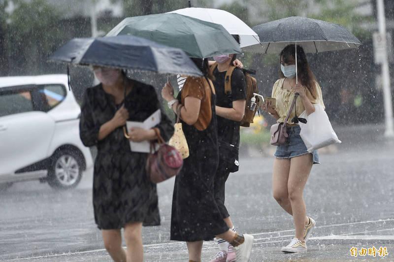 大台北地區午後恐有大雷雨。(資料照)