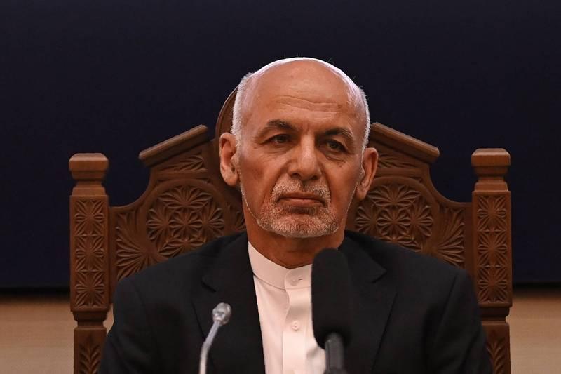 阿富汗總統賈尼本週日逃亡出國,俄羅斯稱他逃離喀布爾當時攜帶大筆現鈔,甚至多到部分遺留在機場停機坪上。(法新社資料照)