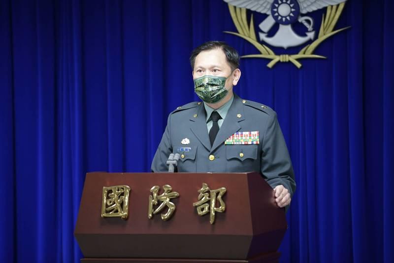 國防部發言人史順文少將。(國防部提供)