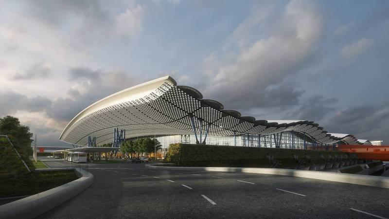 桃園國際機場第三航站區主體航廈土建工程已於今年6月1日動工。(桃機公司提供)