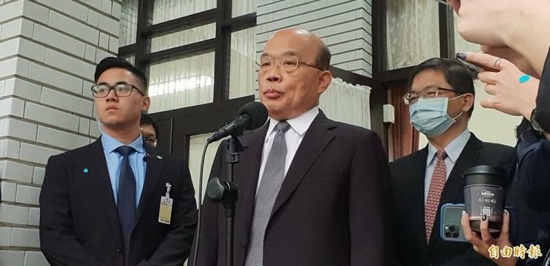 行政院長蘇貞昌緊盯防堵非洲豬瘟出現新破口。(資料照)