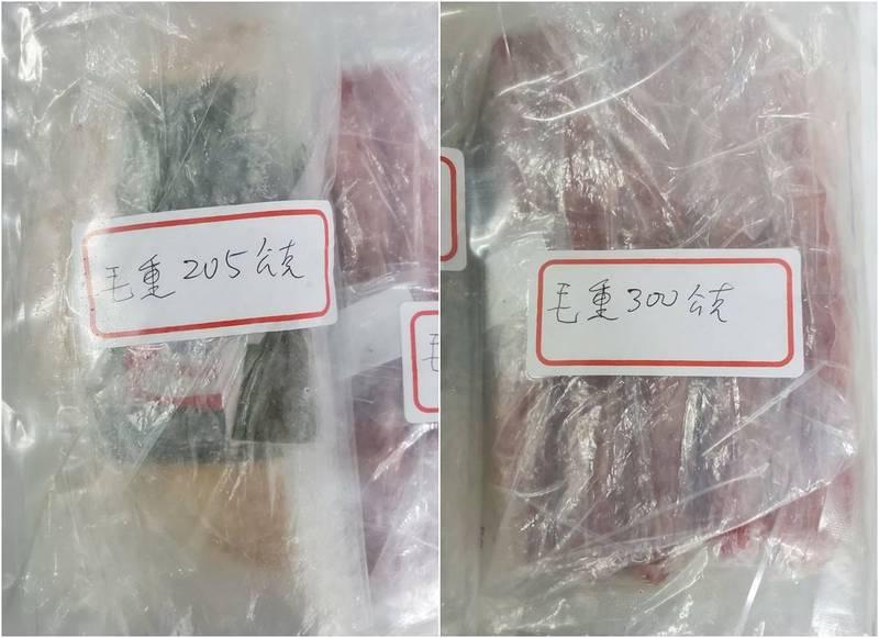 彰化縣查獲越南走私肉,檢驗結果有2件豬肉半成品「香腸」和「肉捲」陽性非洲豬瘟病毒反應。(縣府提供)