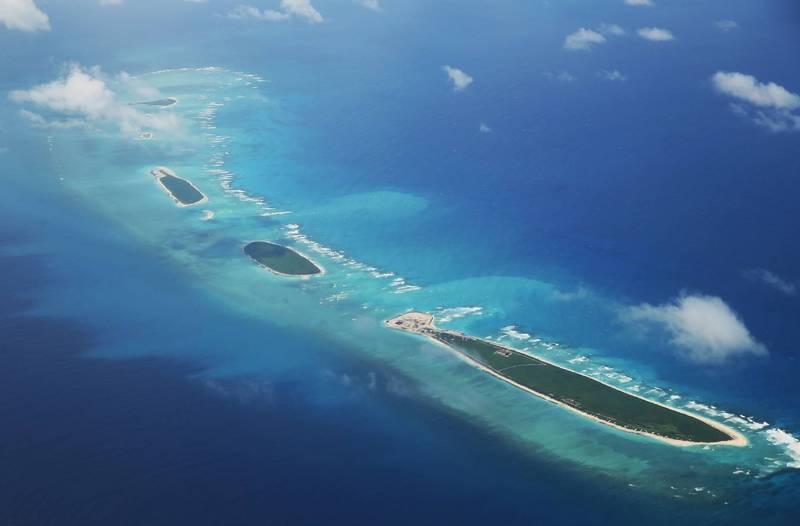 中國近年在南海填海造島、興建軍事基地,並多次主張擁有南海諸島主權。圖為西沙群島。(法新社檔案照)