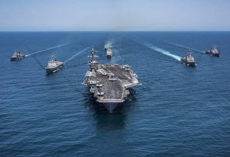 卡爾.文森號航空母艦(見圖)部署至日本,美軍在西太平洋同時部署第七艦隊與第三艦隊兵力。(歐新社檔案照)