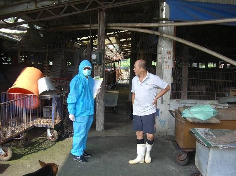 因應9月1日至9月30日養豬場全面禁止廚餘餵豬,屏縣府加強宣導也將持續稽查。(屏縣府提供)