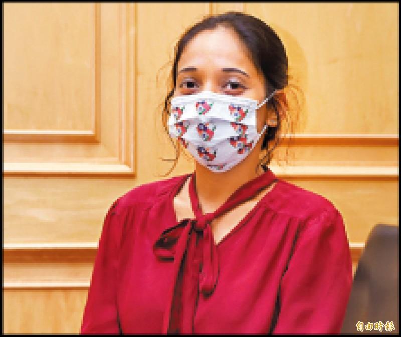 印度學者胡莎娜(Sana Hashmi)表示,雖然台灣與新南向國家缺乏正式外交關係和正式對話管道,但台灣透過新南向政策取得了一些成果,而因為武漢肺炎疫情,某方面讓台灣「因禍得福」,使印度人更加關注台灣。(記者方賓照攝)