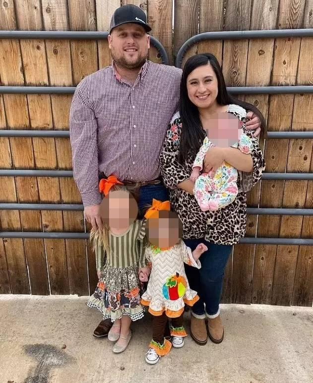 華萊士(左)死後遺下懷孕中的妻子和3名孩子。(圖擷取自群眾募資平台GoFundMe)