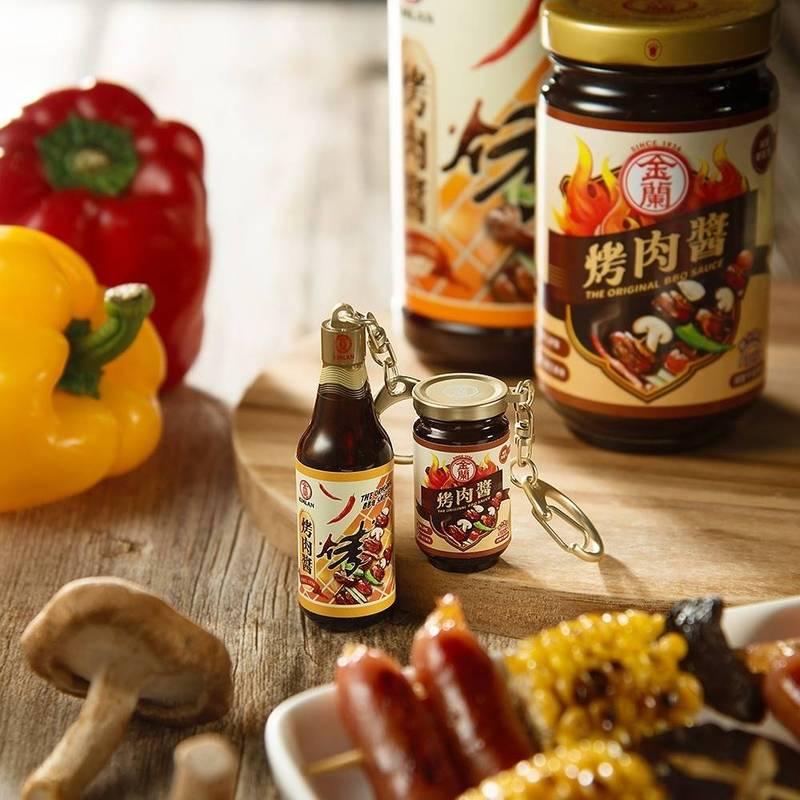 悠遊卡公司推出「金蘭烤肉醬3D造型悠遊卡」,分別有瓶裝、罐裝2種樣式。(悠遊卡公司提供)