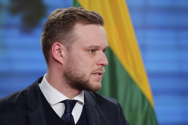 立陶宛外交部長藍斯柏吉斯3日在歐盟外長會議上,敦促歐盟降低依賴中國。(美聯社)