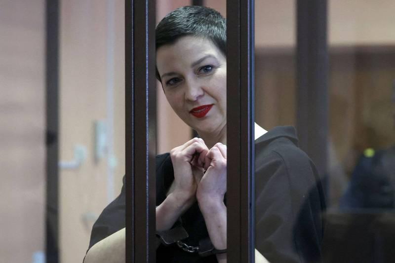 白俄羅斯反對派領袖柯列斯尼可娃被依違反國安法判處11年徒刑。(法新社)