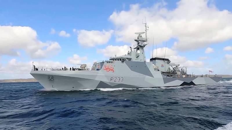英國海軍「添馬艦」(HMS Tamar)。(路透)