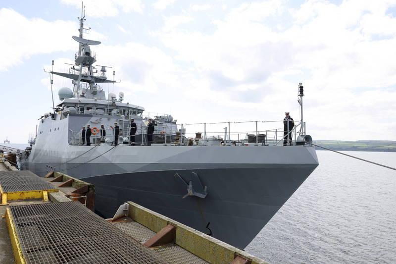 英國海軍「史佩艦」(HMS Spey)。(歐新社)
