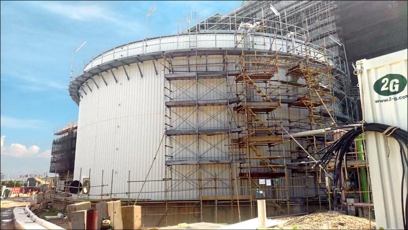 「觀音生質能中心」將於年底上線,屆時可大幅去化桃園垃圾。(環保局提供)