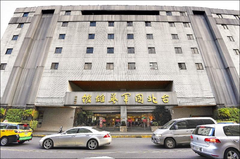 國軍英雄館訂房系統遭駭客入侵,住客個資全遭詐欺集團掌握,圖為台北國軍英雄館。(資料照)