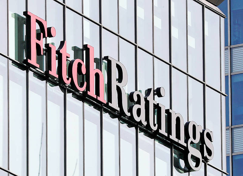 The Fitch Ratings Ltd logo is pictured on a building in an undated photograph. Photo: Reuters