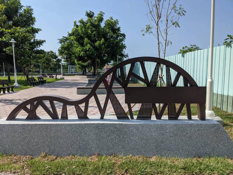台南永康文創園區附近的公2公園近期開闢完成,可望建構東橋地區居民遊憩的綠三角。(工務局提供)