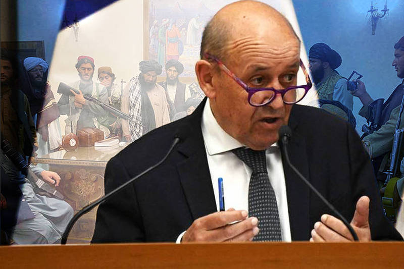 法國外交部長勒德里安表示,有關阿富汗新政府的承諾根本就是在撒謊。(本報合成)